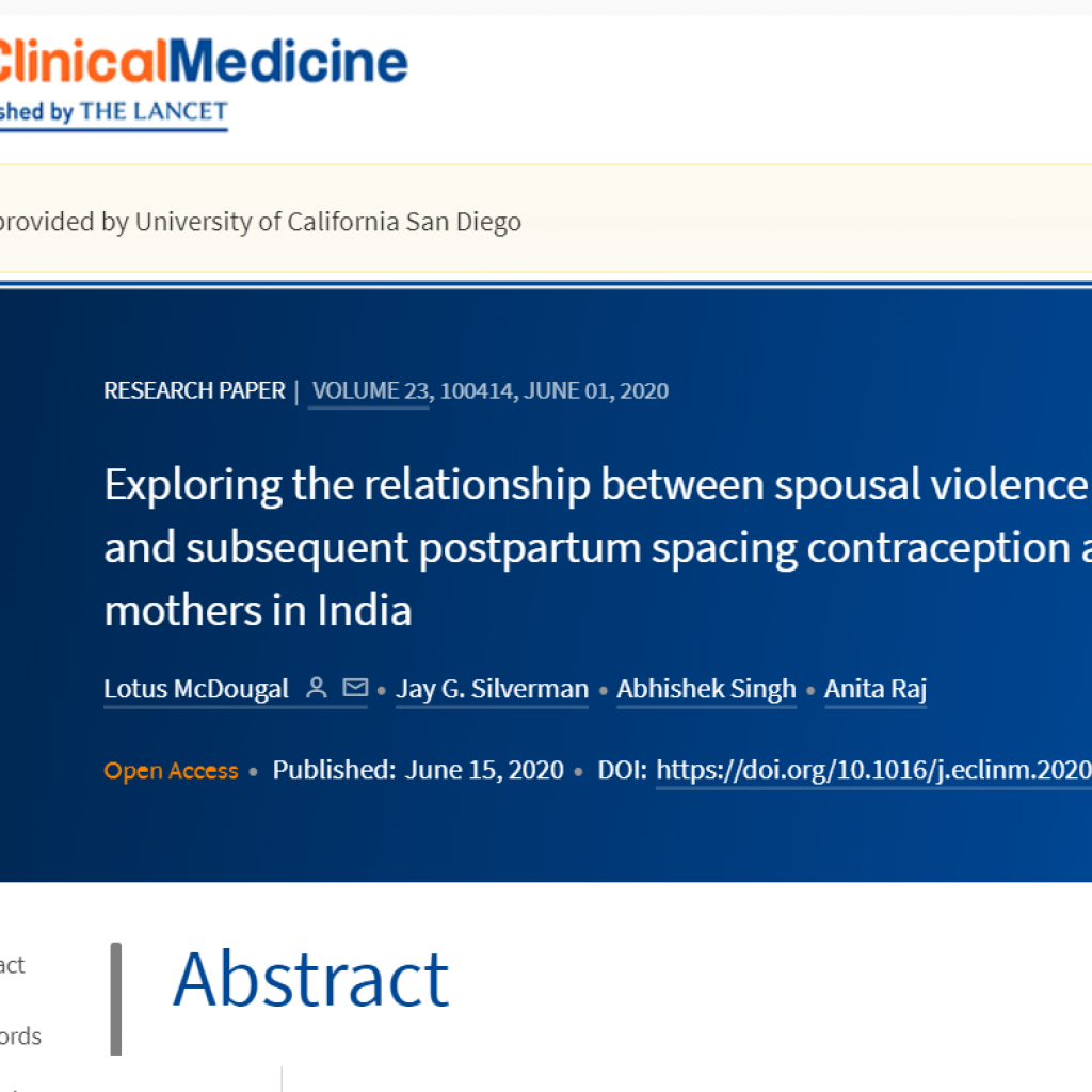 Exploring the relationship between spousal violence during pregnancy and subsequent postpartum spacing contraception among first-time mothers in India